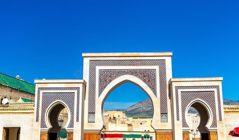 Porta nova de Rcif em Medina de Fes, Marrocos imagem de stock royalty free