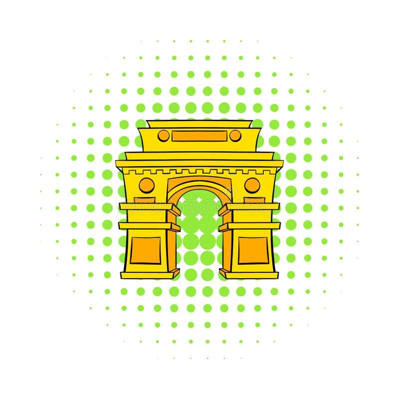 Porta, Nova Deli, ícone da Índia, estilo da banda desenhada ilustração royalty free