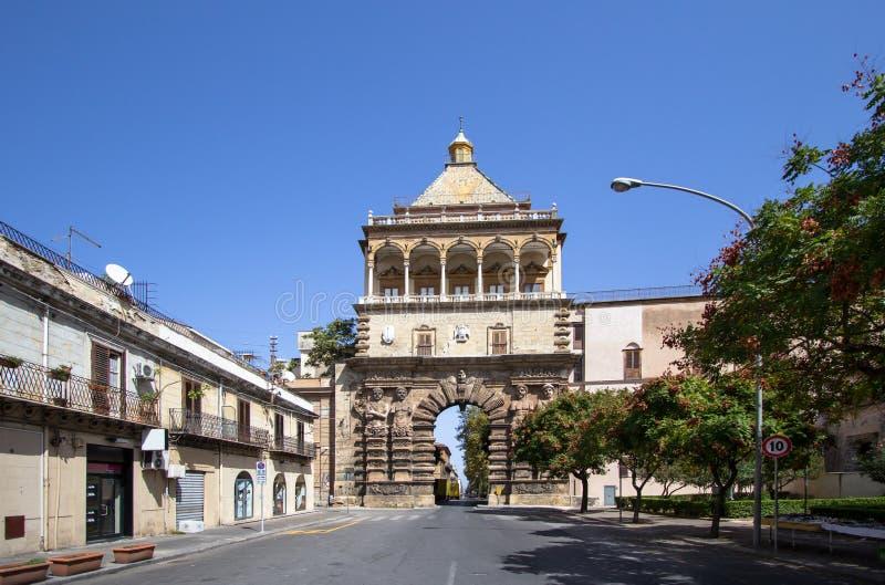 Porta Nuovo, Palermo, Italy. Porta Nuovo city gate, Palermo, Italy stock photography