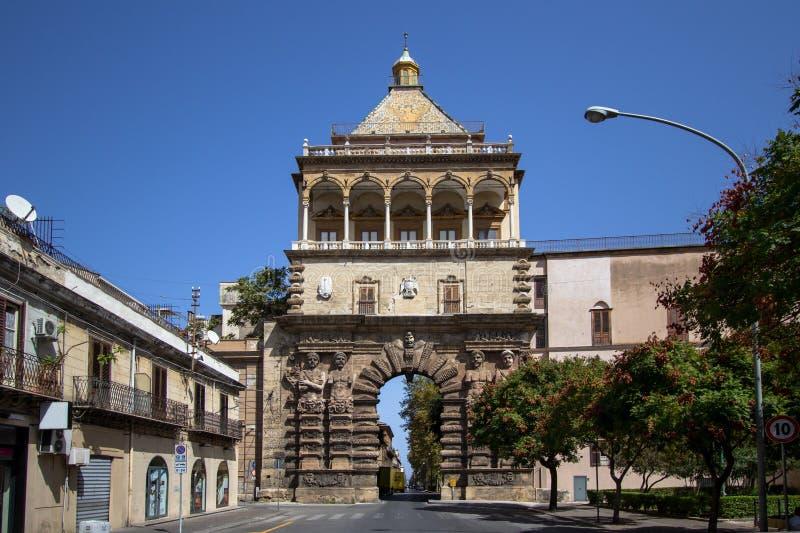 Porta Nuovo, Palermo, Italy. Porta Nuovo city gate, Palermo, Italy royalty free stock images