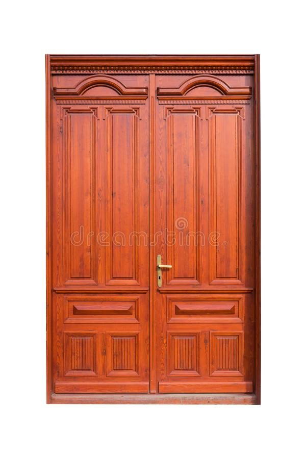 Porta o portone di legno immagini stock