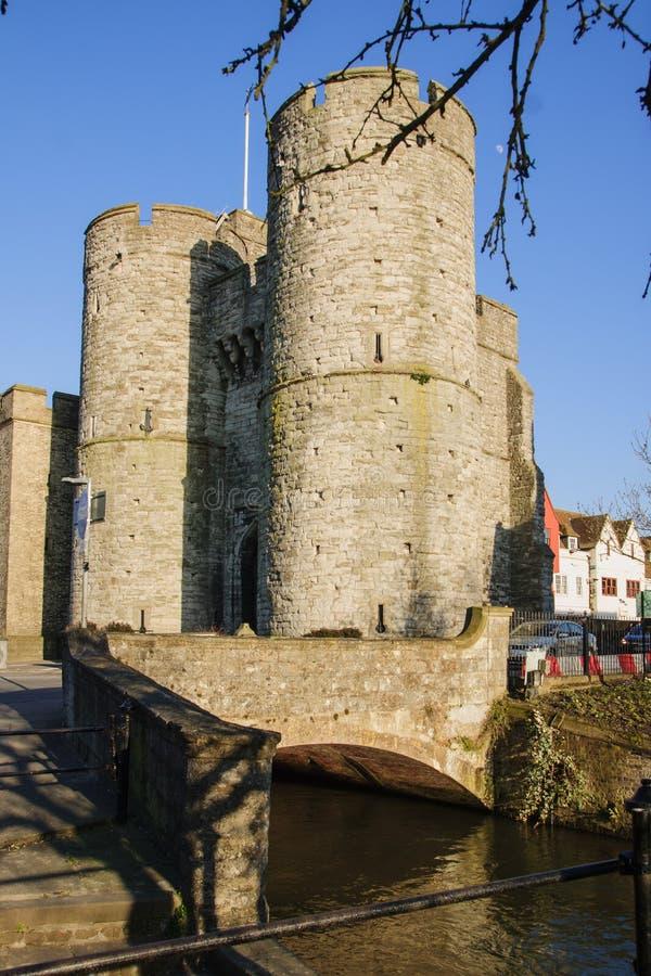 Porta ocidental de Canterbury imagem de stock