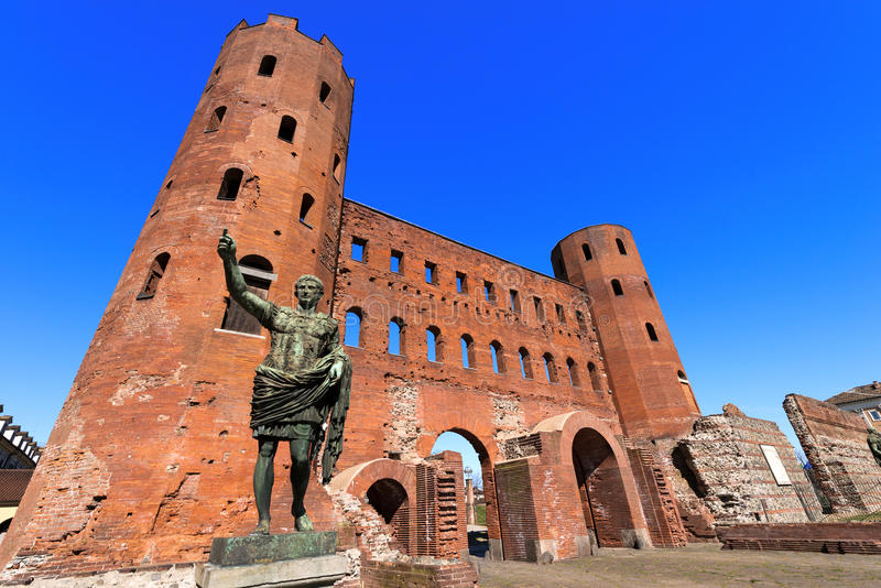 Porta Palatina - Turijn Italië royalty-vrije stock fotografie