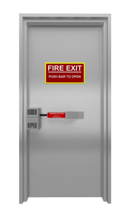 Porta para a evacuação em caso do fogo ilustração do vetor