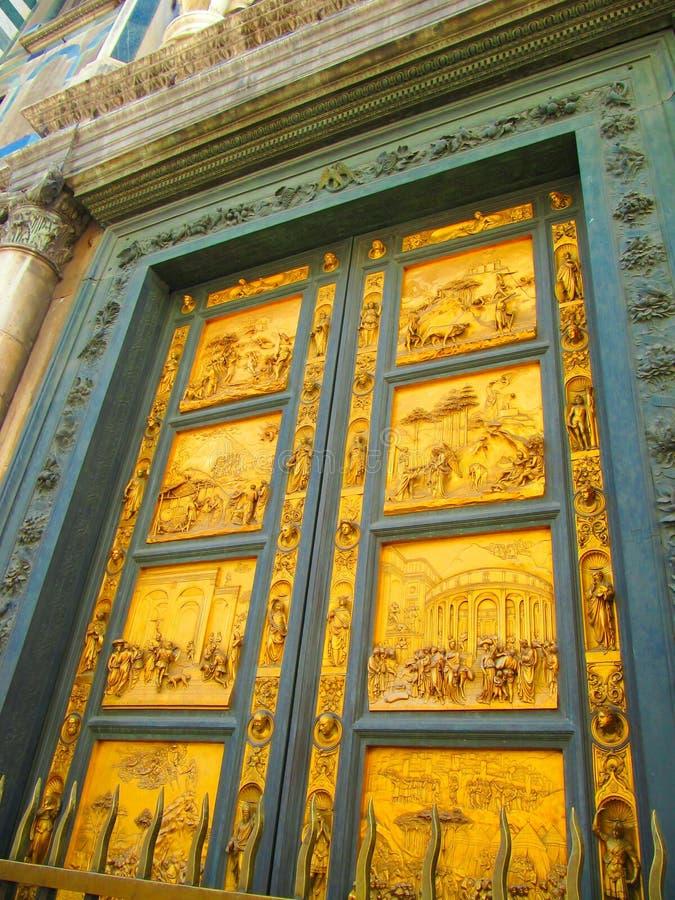 Porta Paradiso - стробы рая Флоренса Италии стоковое фото rf