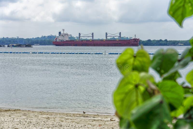 Porta rinfuse nello stretto di Johor immagine stock libera da diritti