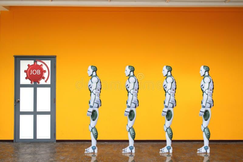 Porta robot del lavoro di automazione di processi per una tecnologia di lavoro immagini stock libere da diritti