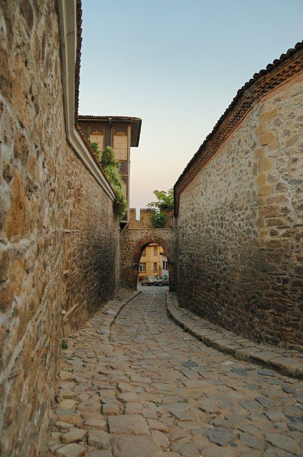 Porta romana em Plovdiv Bulgária fotografia de stock royalty free