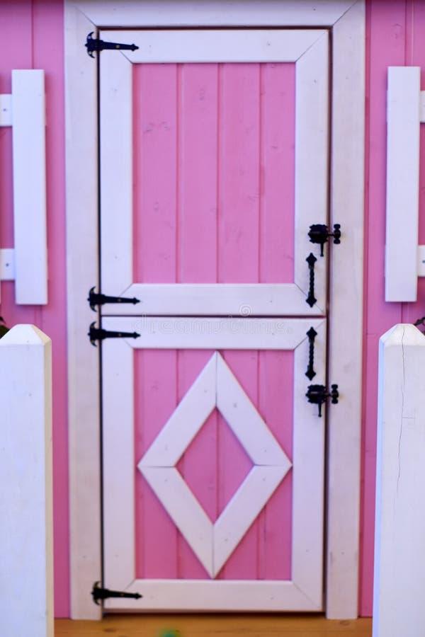 Porta rosa immagini stock