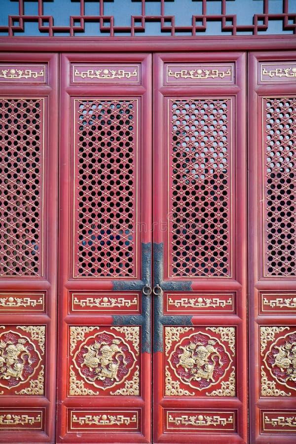 Porta rossa cinese fotografia stock libera da diritti