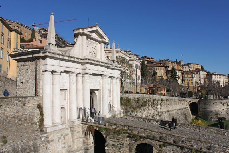 Porta San Giacomo, Bergamo royalty free stock photos
