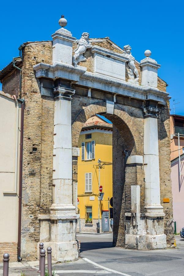 Porta San Mamante port av Ravenna, Emilia-Romagna italy arkivbilder