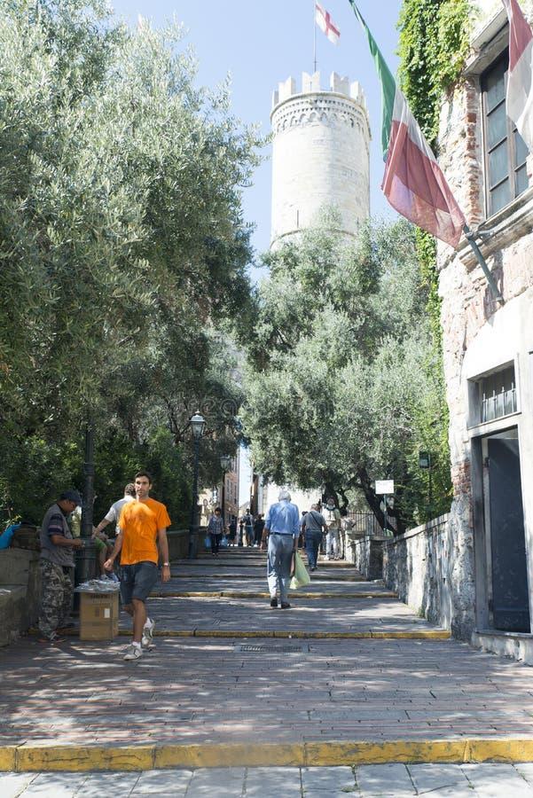 Porta Soprana in Genoa royalty free stock images