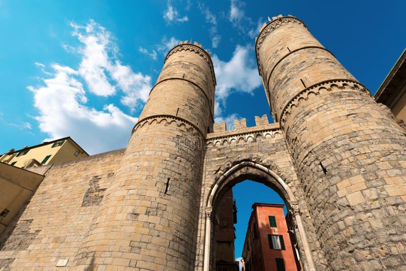 Porta Soprana - Genua Italië royalty-vrije stock fotografie