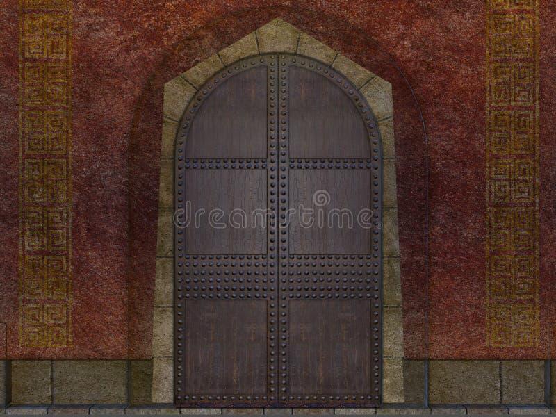 Porta subterrânea do templo ilustração royalty free