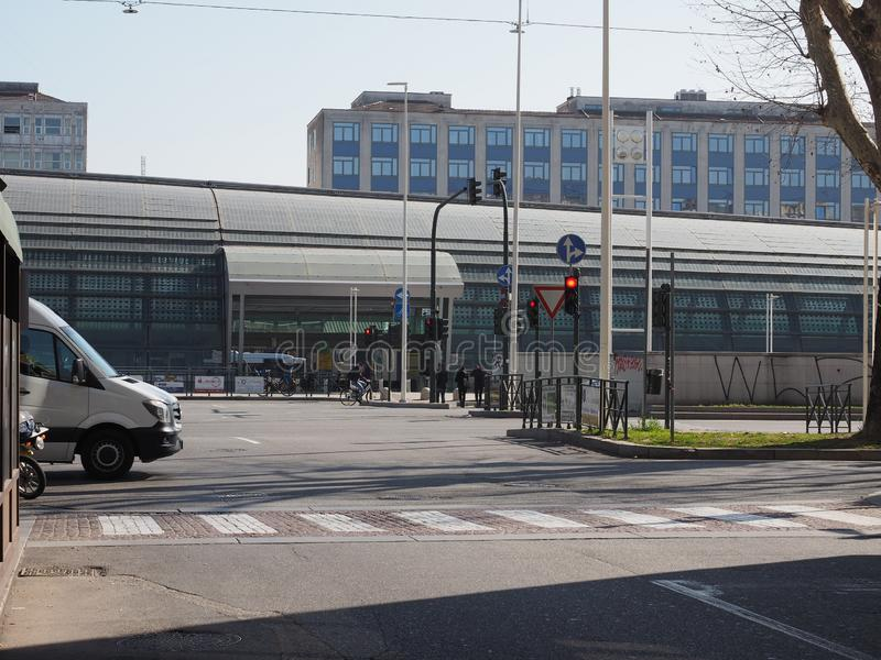 Porta Susa station in Turin stock photography