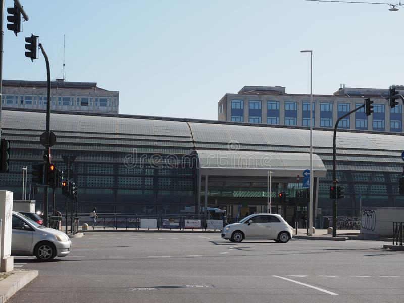 Porta Susa station in Turin stock image