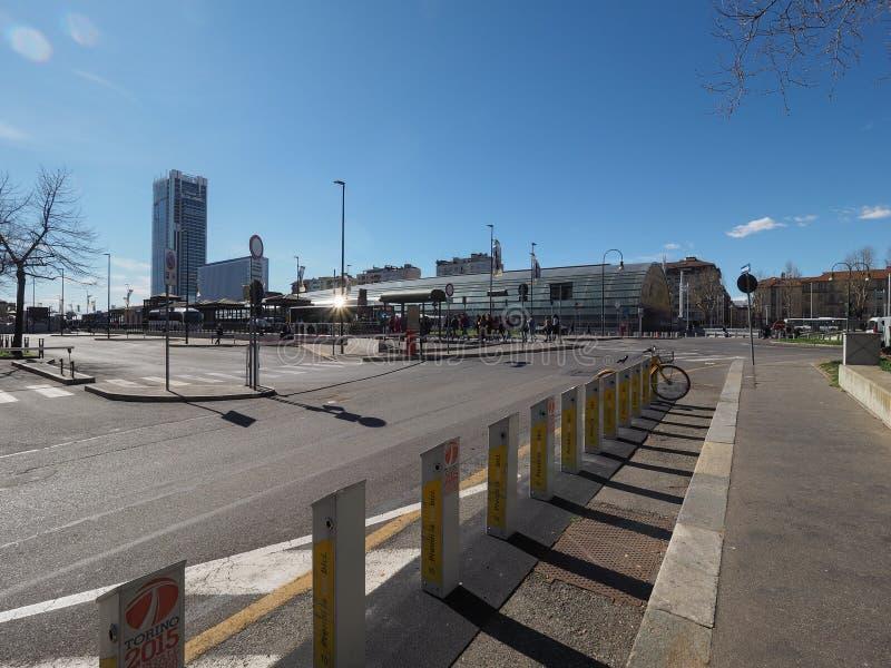 Porta Susa station in Turin stock photo