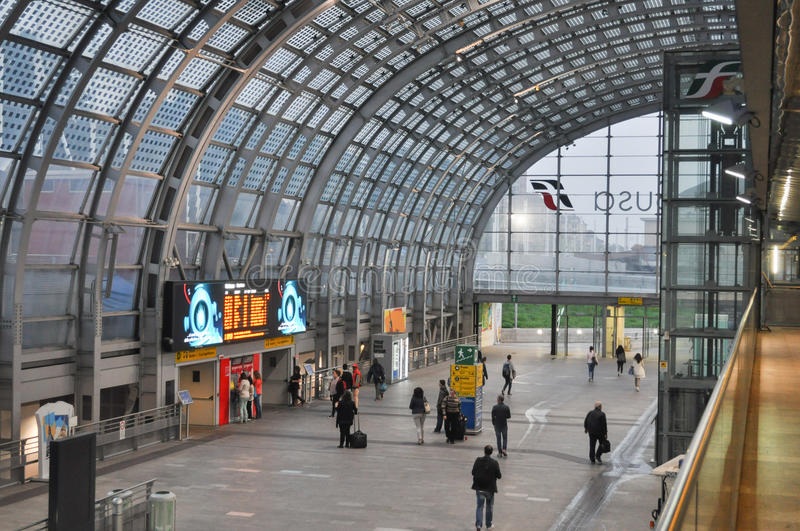 Porta Susa station in Turin stock photos