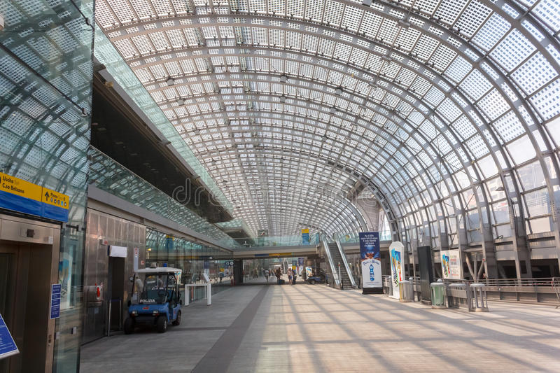 Porta Susa station in Turin. Porta Susa main railway and subway station in Turin, Italy royalty free stock images
