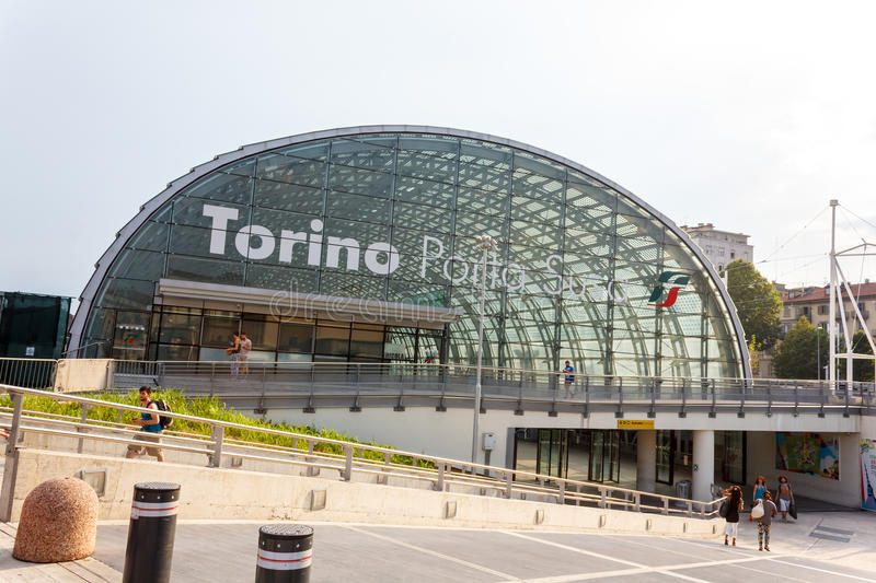Porta Susa station in Turin. Porta Susa main railway and subway station in Turin, Italy royalty free stock photography