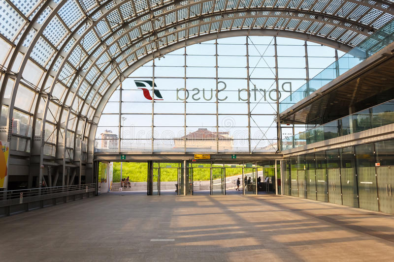 Porta Susa station in Turin. Porta Susa main railway and subway station in Turin, Italy stock images