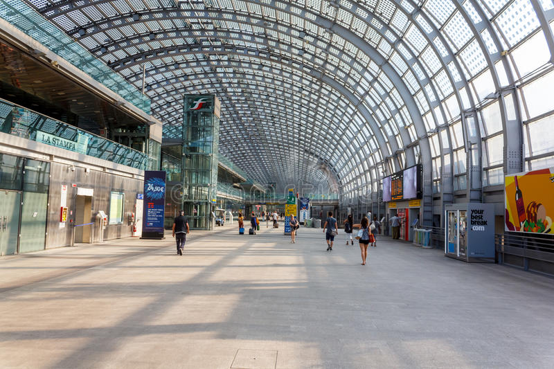 Porta Susa station in Turin. Porta Susa main railway and subway station in Turin, Italy royalty free stock image
