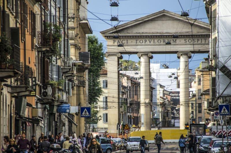 Porta Ticinese, Mediolański Włochy obraz stock