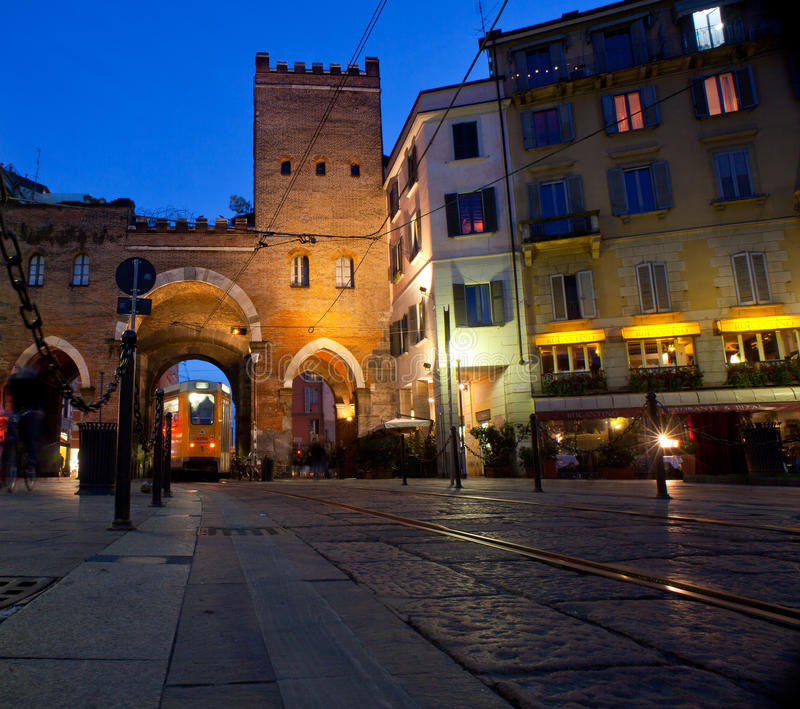 Porta Ticinese, Milaan royalty-vrije stock foto's