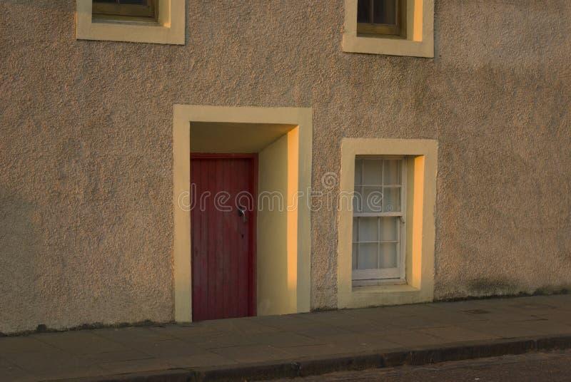 Porta tradicional do Fife fotografia de stock