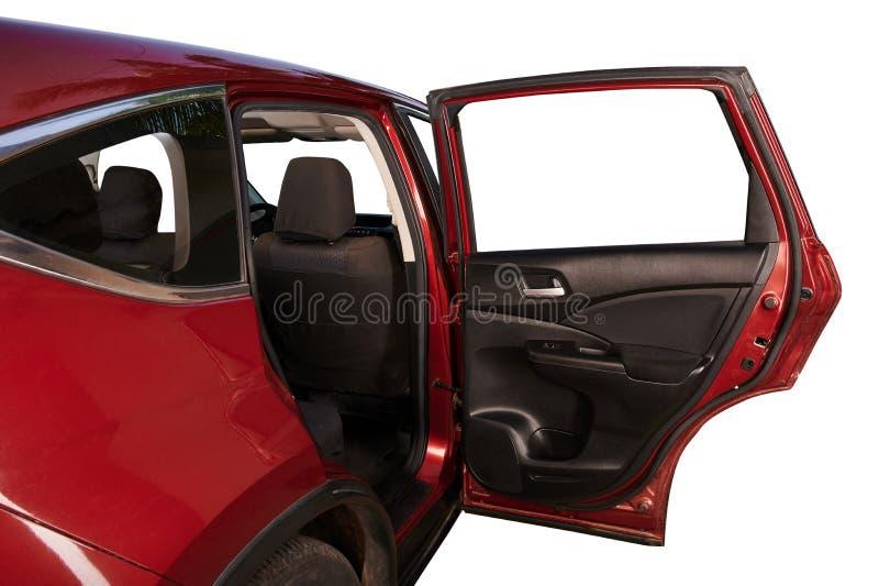 Porta traseira aberta do carro de SUV fotos de stock