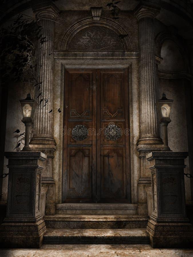 Porta a uma cripta ilustração do vetor