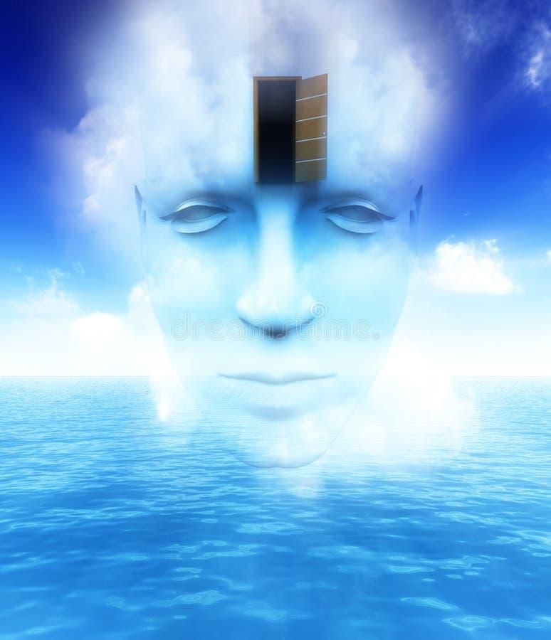 A porta a uma mente aberta 17 ilustração do vetor