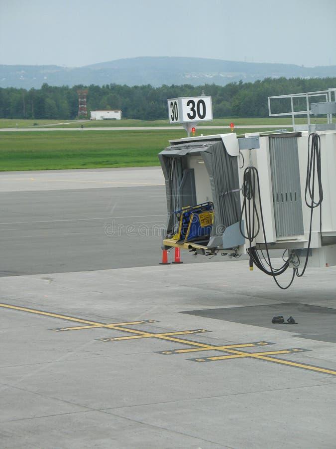 Porta vazia do avião fotografia de stock royalty free