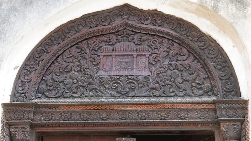 Porta velha, cidade de pedra, Zanzibar fotos de stock