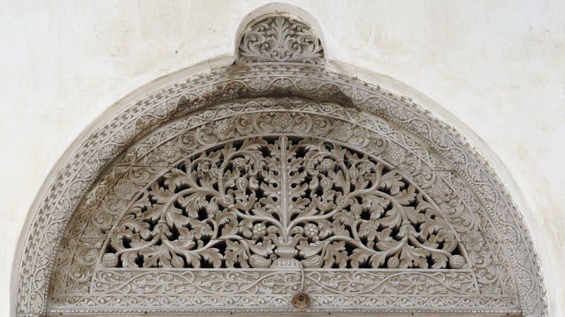 Porta velha, cidade de pedra, Zanzibar fotografia de stock