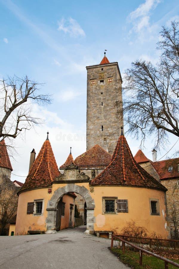 Download Porta Do Castelo Em Rothenburg Imagem de Stock - Imagem de velho, árvores: 29846325