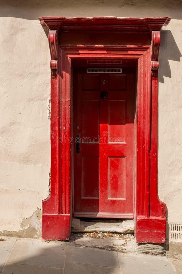 Porta velha em Durham - Reino Unido foto de stock