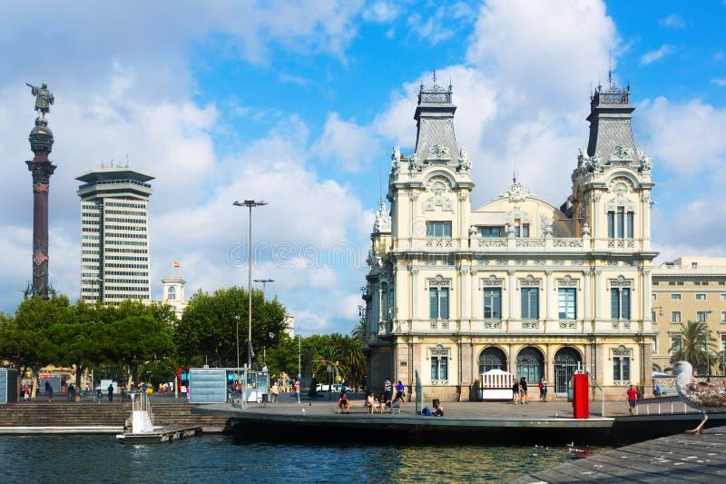 Porta Vell a Barcellona, Spagna fotografia stock