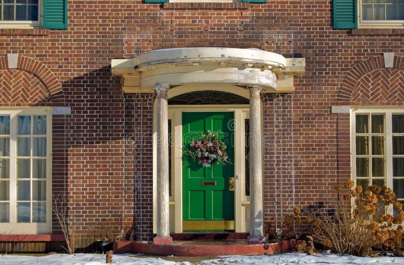 A porta verde fotografia de stock