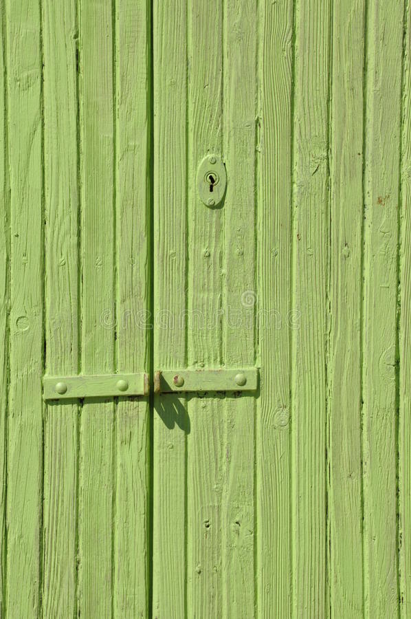 Porta verde di legno fotografia stock libera da diritti