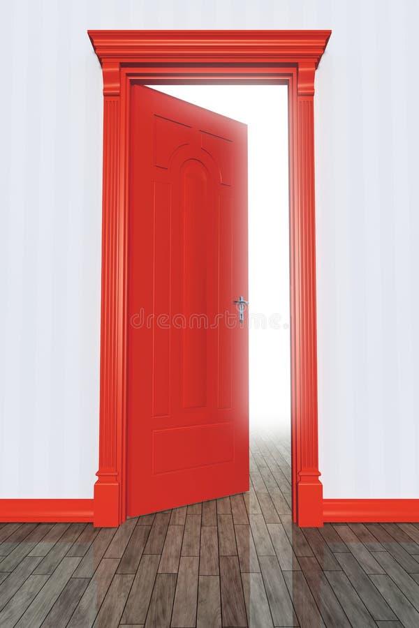 Porta vermelha ilustração royalty free