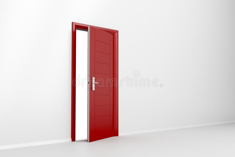Porta vermelha ilustração do vetor