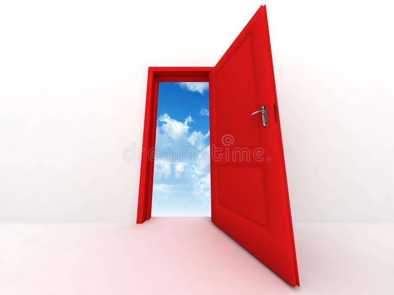 Porta vermelha ilustração stock
