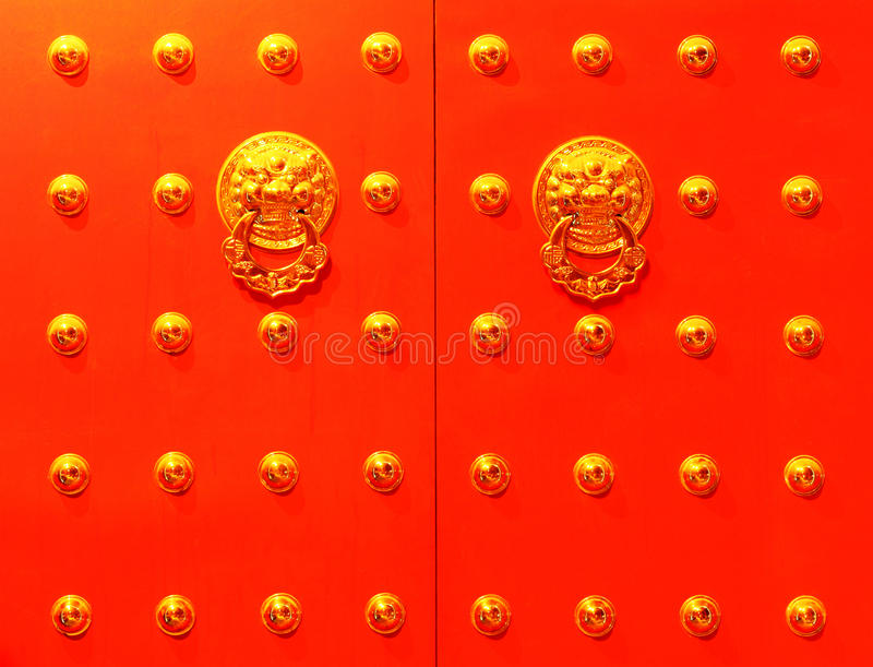 Porta vermelha chinesa fotos de stock royalty free