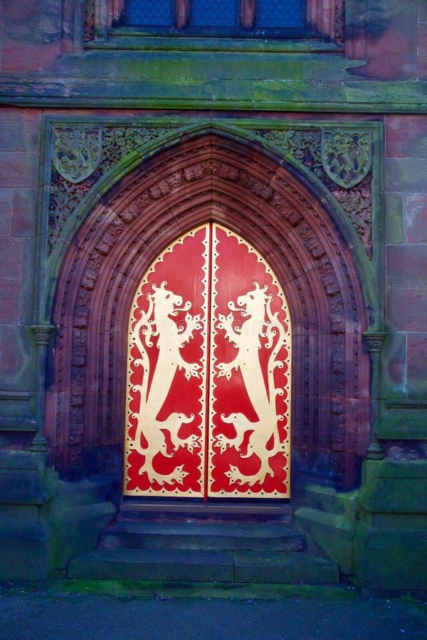 Porta vermelha de St Giles foto de stock