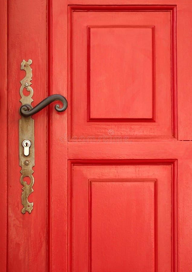 Porta vermelha mágica fotografia de stock royalty free