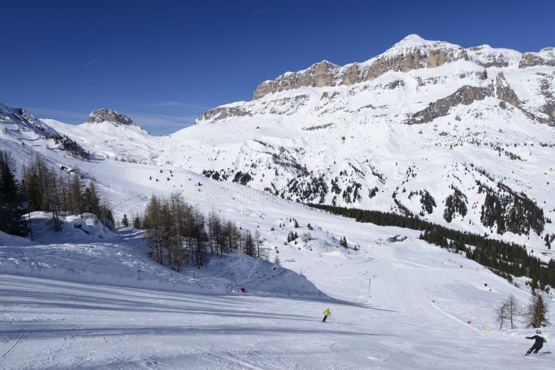 Porta Vescovo ski aea and Piz Boe', Arabba royalty free stock images