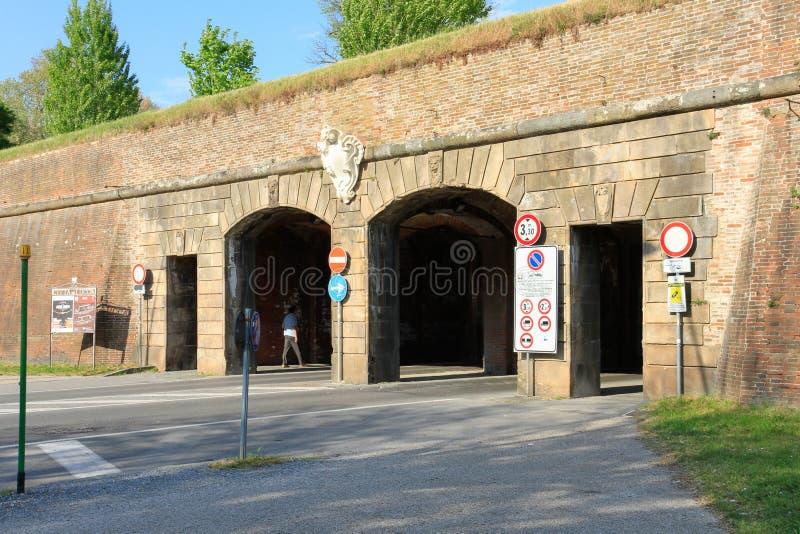 Porta Vittorio Emanuele, Lucca arkivfoto