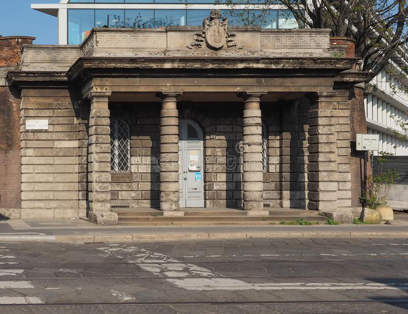 Porta Volta in Milaan royalty-vrije stock foto